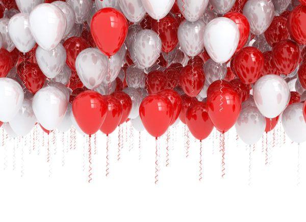 Decoracion casa globos rojos
