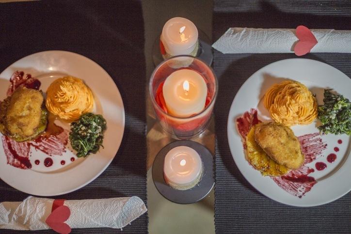 Menu para la cena de san valentin segundo plato