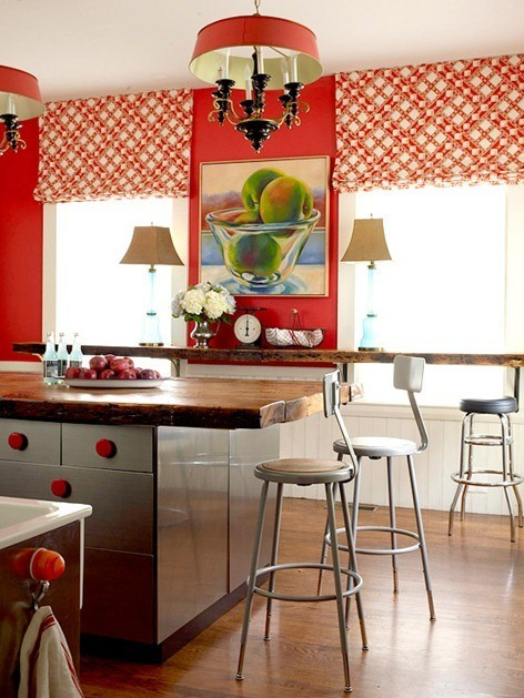 Cambiar de cocina  Cocinas en rojo