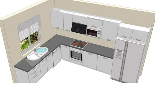 diseño de cocina en L