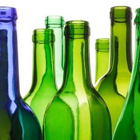 Manualidades reciclaje  floreros con botellas de vidrio