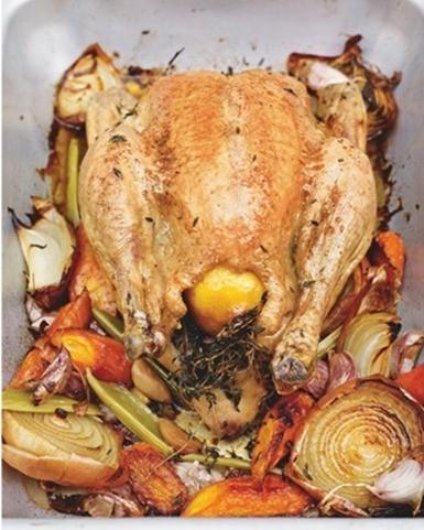 Receta pollo asado perfecto de Jamie Oliver