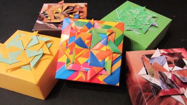 decorar una caja de cartón