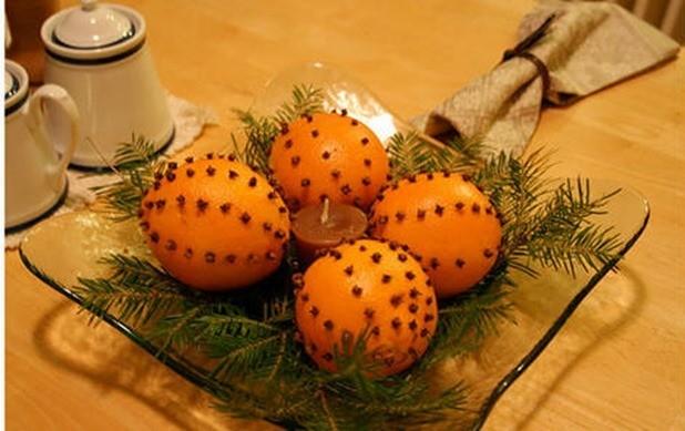 Centro mesas naranjas