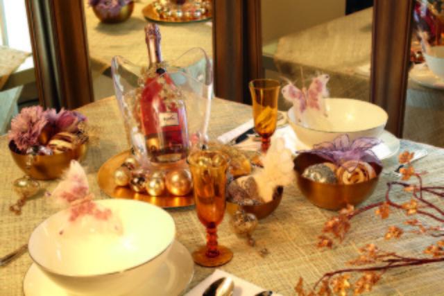 decoracion mesa navidad Castillo Encantado