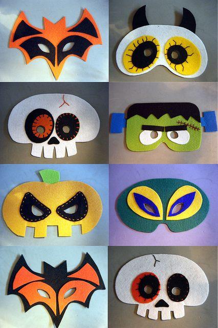 manualidades-halloween-niños-antifaces