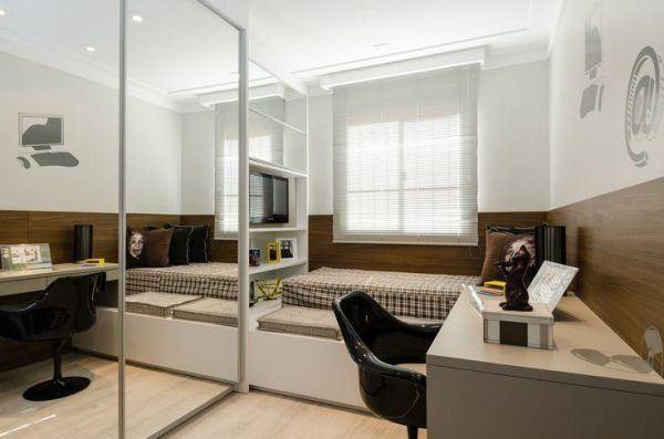 como-decorar-habitaciones-juveniles-espejos-hoylowcost