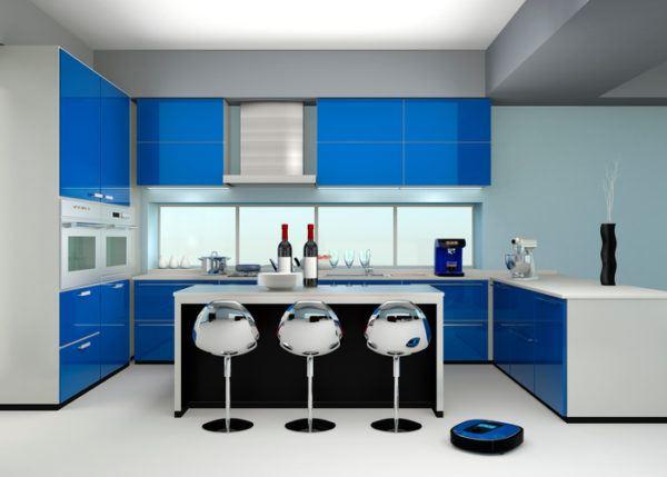 Cocinas azules marino