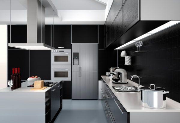 Cocinas negras y acero