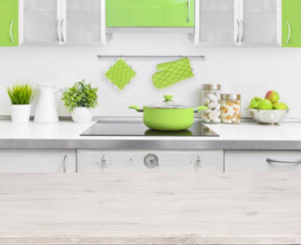 Cocinas verdes rusticas