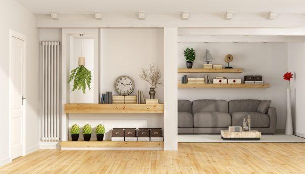 Consejos para decorar las paredes del salon balda planta