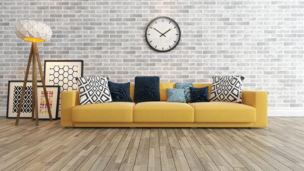 Consejos para decorar las paredes del salon reloj vintage