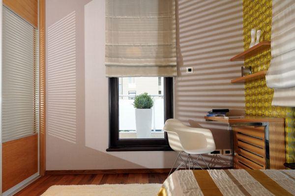 Ideas para decorar habitaciones pequenas muebles estudio sillas metalicas