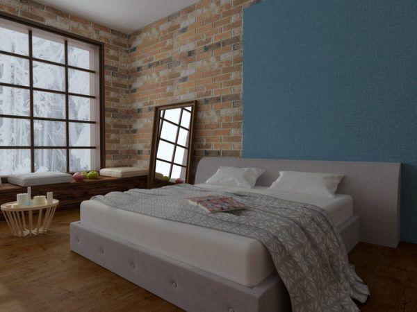 Ideas para decorar las paredes del dormitorio el color papel pintado loft neoyorkino