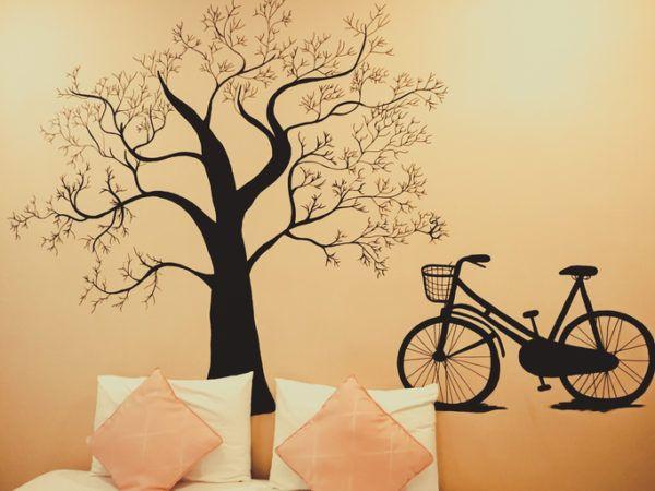 Ideas para decorar las paredes del dormitorio vinilos pegatina adhesiva