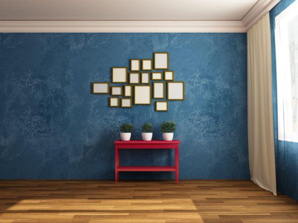 Ideas para decorar las paredes del salon cuadros simetricos