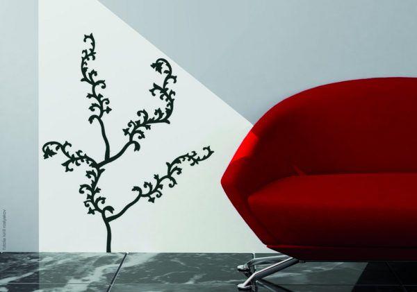 Ideas para decorar las paredes del salon vinilos planta