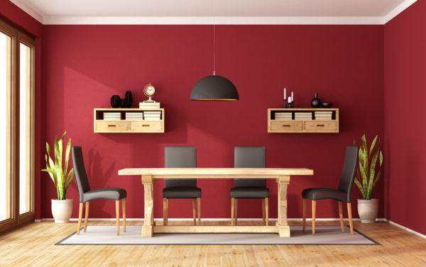 Comedores modernos en rojo