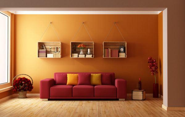 Colores combinan rojo naranja