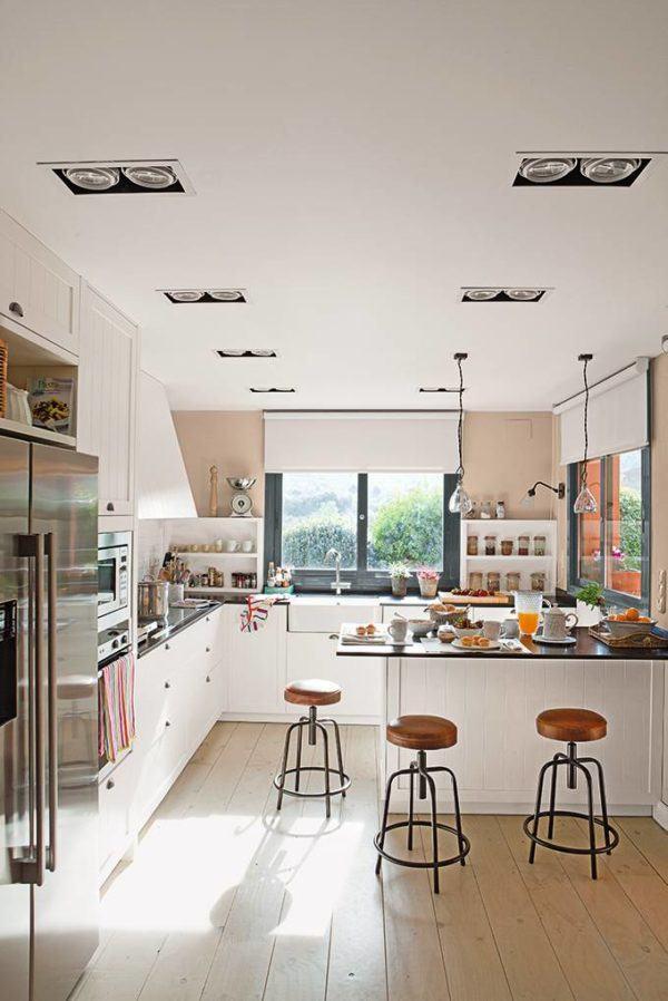 como-decorar-cocinas-con-barra-cocina-grande-elmueble