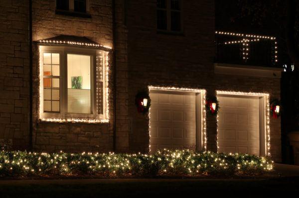 Decorar con luces navideñas