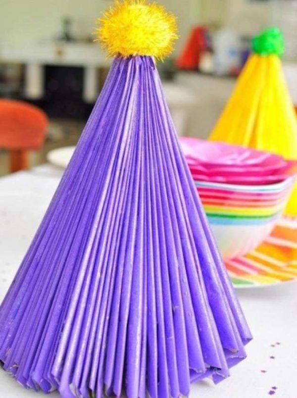 Manualidades faciles navidad arbol papel plegado