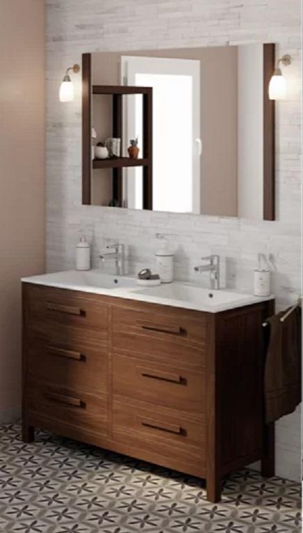 Catalogo baños leroy merlin 2021 mueble doble madera