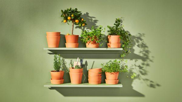 Recibidores ikea macetas plantas