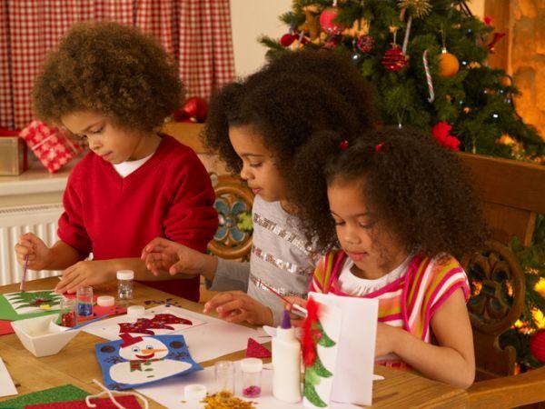 Tarjeta de navidad hechas por niños