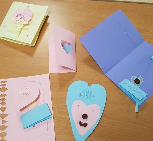 Corazones para tarjetas de cartulinas