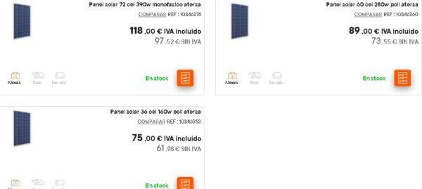 Paneles solares bricomart
