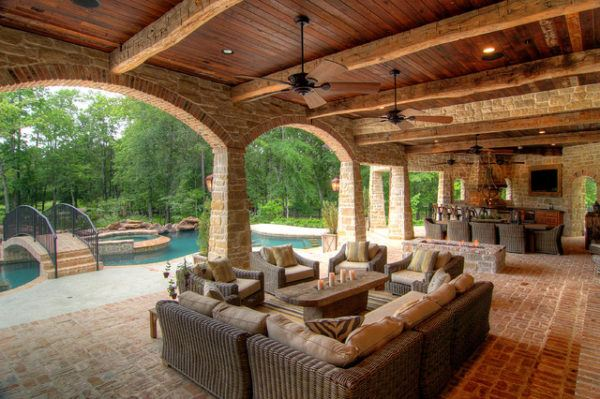 Ideas para decorar terrazas cubiertas estilo casa campo mediterraneo