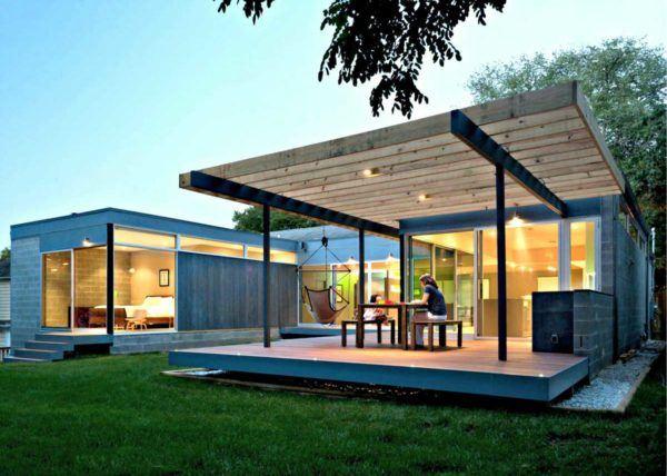 Ideas para decorar terrazas cubiertas estilo moderno minimalista hamaca