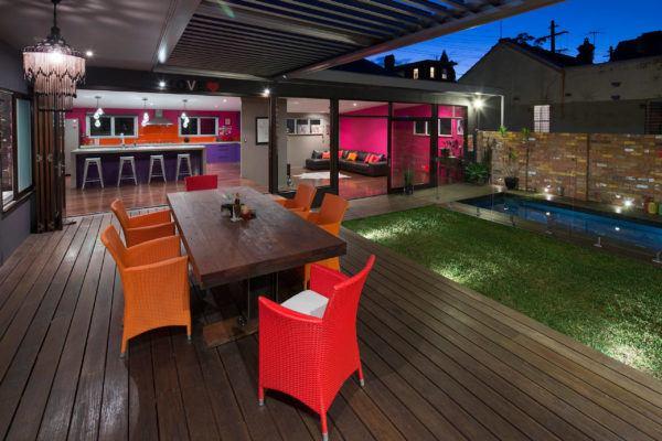Ideas para decorar terrazas cubiertas muebles colores