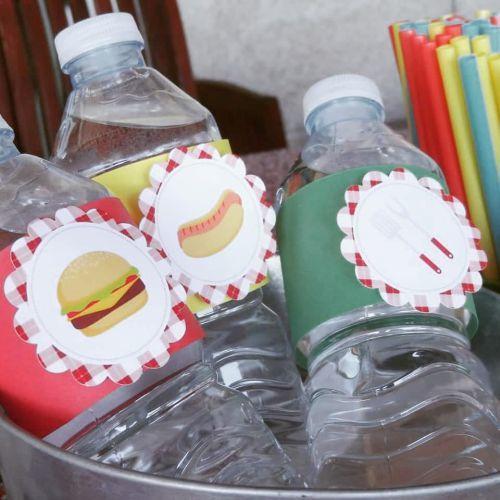 Botellas de agua de barbacoa