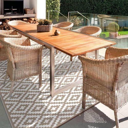 Mesa para terraza o jardín, de madera
