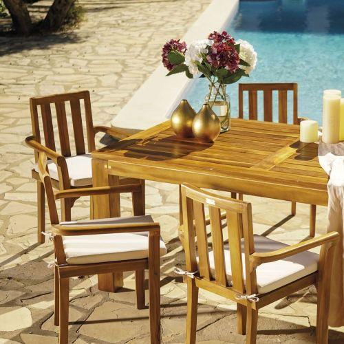 Mesa jardín de madera