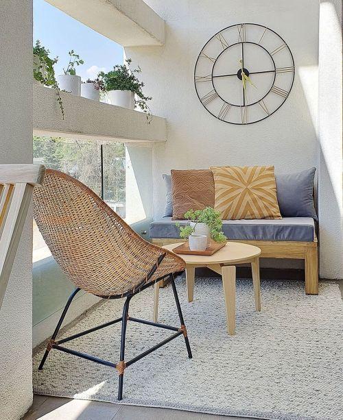 Muebles para terraza blanca