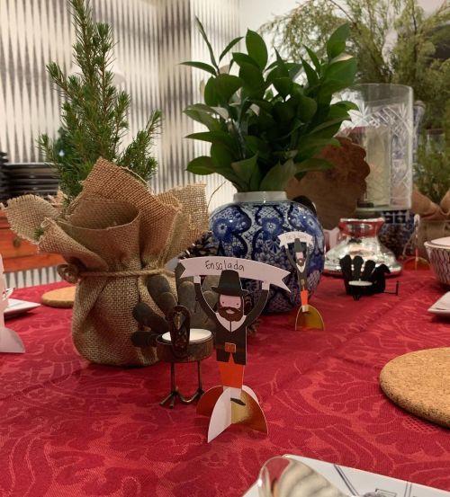 Decoración personalizada mesa Acción de Gracias