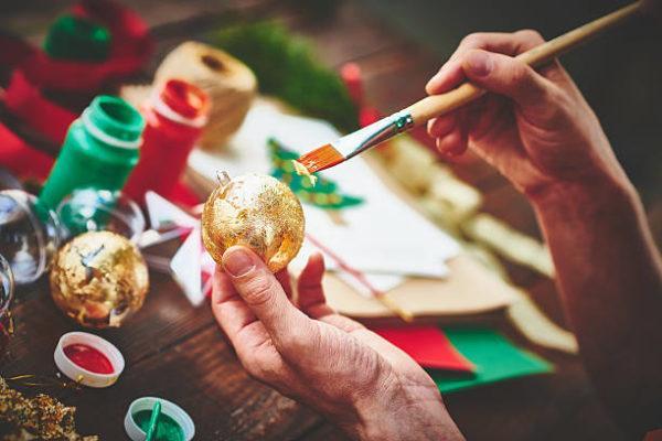 Bolas de navidad para decorar el arbol purpurina