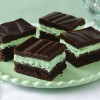 Brownies de chocolate y menta