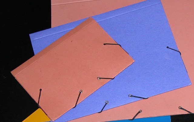 Carpetas forradas en tela BlogHogar com