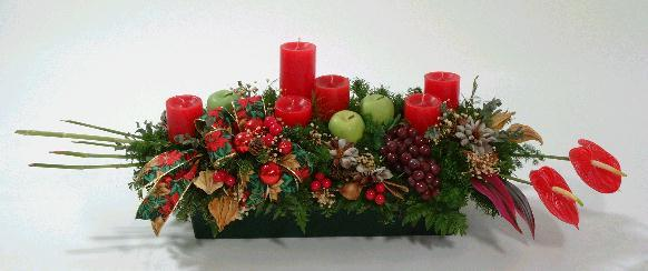 Centro de mesa navide o - Como hacer un centro de navidad ...