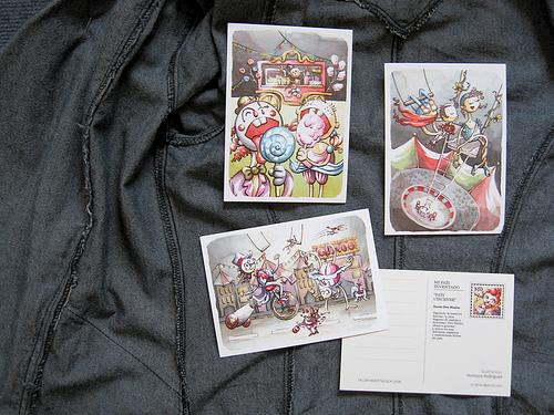 Manualidades con viejas postales for Manualidades con puertas viejas