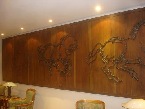 Recubrimiento de paredes del hogar con paneles - Paneles de madera para paredes interiores ...