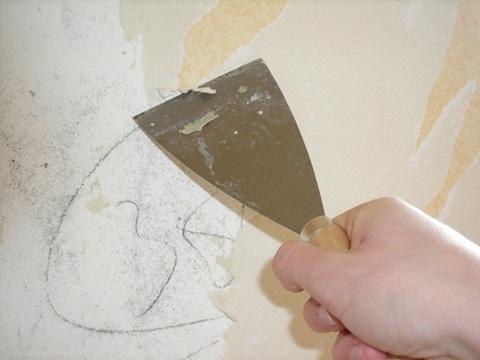 Como quitar el gotele - Como quitar el gotele de la pared ...
