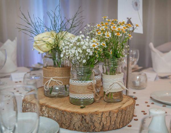 Las mejores ideas para hacer centros de mesa para boda for Mesas de bodas