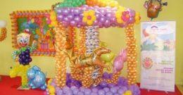 Ideas para la decoración con globos para un cumpleaños