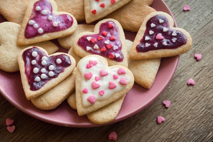 Postres para la cena de san valentin galletas de corazon