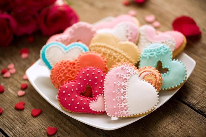 Postres para san valentin pastas con forma de corazon